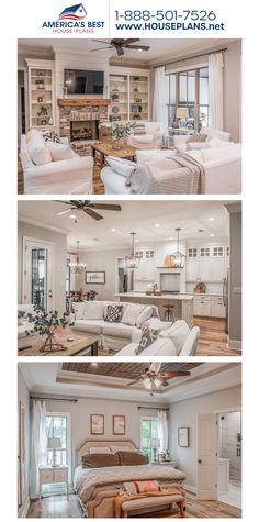 Plan 041-00187 details a glamorous 1-story European home design with 2,373 sq. ft., 4-5 bedrooms, 2.5 bathrooms, split bedrooms, a kitchen island, an open floor plan, a bonus room, and a home office. #europeanhome #openfloorplan #onestoryhome #architecture #houseplans #housedesign #homedesign #homedesigns #architecturalplans #newconstruction #floorplans #dreamhome #dreamhouseplans #abhouseplans #besthouseplans #homesweethome #buildingahome #buildahome #residentialplans #residentialhome Open Floor House Plans, Best House Plans, Dream House Plans, House Projects, French Country, Home Office, Building A House, Kitchen Island, Sweet Home