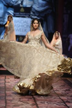 East Meets West Wedding Gowns - White Lenghas, Saris,  Dreses - TheBigFatIndianWedding.com