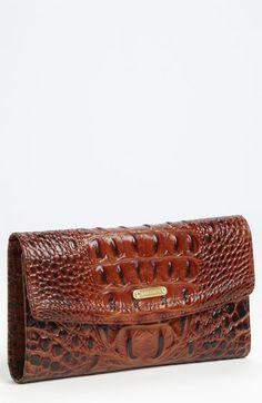 Brahmin Croc Embossed Checkbook Wallet | Nordstrom