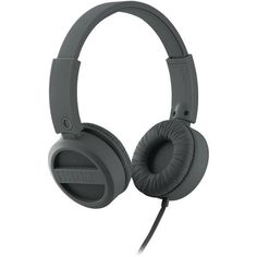 Rubberized Headphones (Gunmetal Gray)