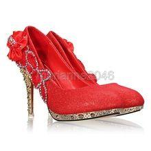 escarpin rouge brillants