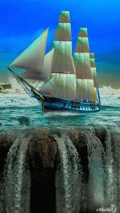 Ship on the edge    ~ A collection of CLICK ON THE PICTURE (gif) AN WATCH IT COME TO LIFE. **....♡♥♡♥♡♥Love★it