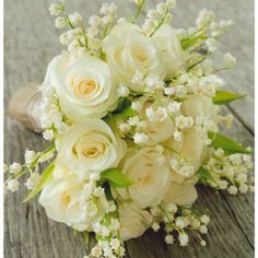 Rose & lily of the valley bouquet - 2 flowers mentioned in Song of Songs