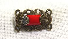 Antique Brooch Victorian Pin Glass Center by SophiesHatsandMore, $50.00