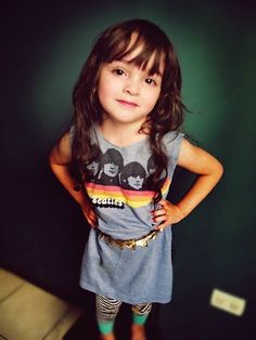 Turning old t-shirts into dresses. Fun idea for sassy little girls.