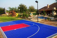 backyard game courts | basketball sport flooring | backyard basketball court | Home Gyms |  sport floors by SnapSports®