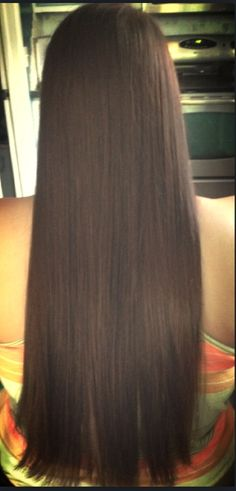 Just did her hair and I gotta say I'm pretty jealous #long #beautiful #straight #healthy #brunette