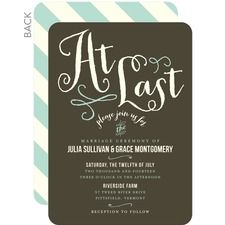 """At Last Wedding Cards... love the """"At Last"""" copy."""
