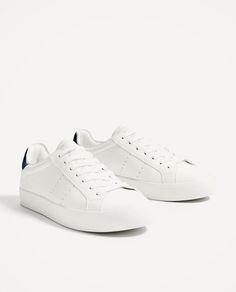 34b81a6bca5 BASIC WHITE SNEAKERS-View all-SHOES-WOMAN