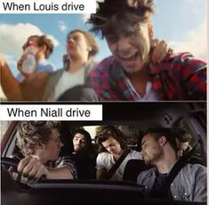 Lou vs. Nialler<<well I mean louis did get pulled over for driving too slow ...repinn if u get it