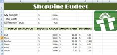 Kids Computer Lessons: 7th Grade- Creating a Shopping Budget List in Microsoft Excel