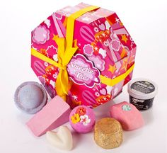 A Lush gift set with either sweet things or Christmas things in