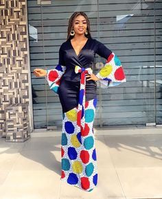 Ankara Long Gown Styles, Ankara Gowns, Ankara Styles, Ankara Skirt, African Lace Dresses, Latest African Fashion Dresses, African Print Fashion, African Print Dress Designs, African Attire