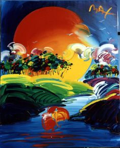 Peter Max. artistic expression at its finest.