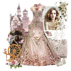 Fairytale Princesses- Sleeping Beauty by royal-darling on Polyvore featuring Forever New, Ted Baker and Monica Vinader