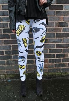 Batman Leggings However no, they are not suppose to be a substitute for pants, lady...
