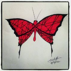 100 Butterflies in 100 Days, Day 31, Medium: Color Pencil