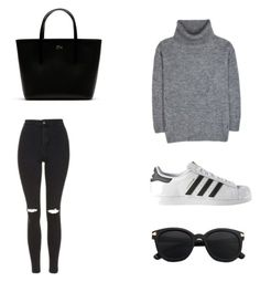 """""""Cute"""" by idamariahaapanen on Polyvore featuring Topshop, Yves Saint Laurent, Lacoste and adidas"""