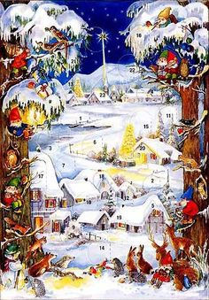 Christmas advent cards made in Germany. This website sells the most beautiful cards and calendars for all seasons!