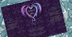 "The brief Dragons are not the kind of thing that you usually see on a wedding invitation! But this is what Kathryn and Ross wanted – a purple invite with dragons and roses that reflected their unique tastes.  The design They also wanted a design that was die-cut, but this turned out to be too expensive and we settled<br /><br /><a class=""more-link"" href=""http://inkinvites.co.nz/kathryn-rosss-dragon-wedding-invitation/"">Read more</a>"