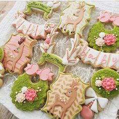 "50 Likes, 9 Comments - The Sugar Jar (@thesugarjar1) on Instagram: ""Woodland themed cookies ❤️ #decoratedcookies #decoratedsugarcookies #sugarcookies #sugarlandcookies…"""