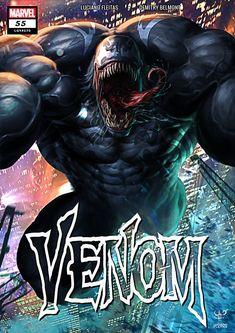Artwork from the Marvel universe. Marvel Venom, Marvel Comic Universe, Comics Universe, Marvel Dc Comics, Venom Comic Book, Joker Comic, Comic Art, Venom Art, Venom Comics