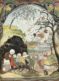 Sibylle Von Olfers - The Root Children - Page 9 - Autumn by moonflygirl, via Flickr