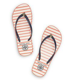 Striped wedge flip flops #toryburch  http://rstyle.me/n/jsgd9nyg6