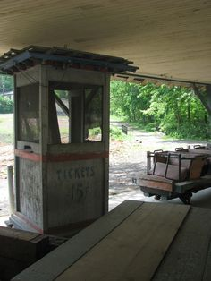 Rocky Springs Amusement Park ticket booth