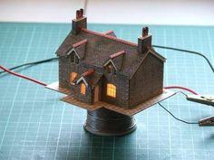Enhanced card kits for model railway, railroad or diorama