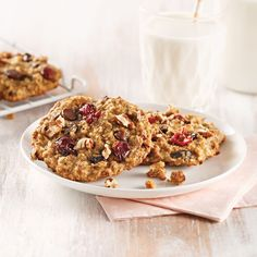 Sprouted Wheat Fresh Cranberry Bars - Savor the Best Chocolate Oatmeal Cookies, Oatmeal Cookie Recipes, Raisin Cookies, Chocolate Chips, Cranberry Bars, Cranberry Cookies, Cranberry Breakfast Recipes, Biscuits Aux Raisins, Apple Oatmeal