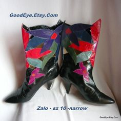 Fab ZALO Leather Cut Out Ankle Boots size 10 n Eu 42 UK by GoodEye