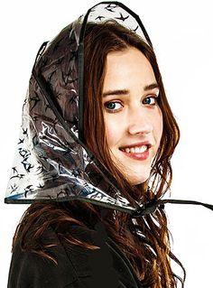 Retro Vintage Style Hats Swift Swallows Retro Rain Bonnet Set $7.50 AT vintagedancer.com