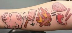 super cute chef or butcher tattoo...great for BBQs