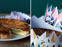 Galette crème patissière-frangipane-matcha et couronnes à imprimer