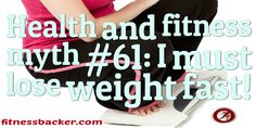 Fast #weightloss is not the answer #health #fitness #fitfam