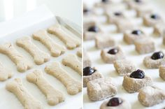 Homemade dog treats in two flavors: beef and blueberry!
