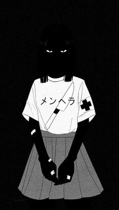 Nishio In 2020 Black Aesthetic Wallpaper Aesthetic Wallpapers Black Aesthetic Wallpaper Tumb. Dark Anime, Arte Horror, Horror Art, Anime Art Girl, Manga Art, Aesthetic Art, Aesthetic Anime, Aesthetic Outfit, Aesthetic Drawing