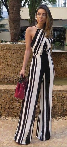 Love this jumpsuit Cool Outfits, Summer Outfits, Fashion Outfits, Jumpsuit Elegante, Best Street Style, Elegant Outfit, Look Chic, White Fashion, Casual Chic