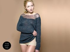 sweater bulky transparent mohair merino grey by THEKNITKID on Etsy, €299.90
