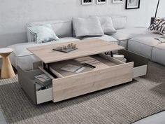 mesa de centro con cajones - Buscar con Google Interior Concept, Home Interior Design, Interior Decorating, Declutter, Organize, Home Hacks, Couch, Storage, Table