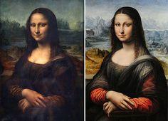 Mona Lisa' de Leonardo da Vinci (à esquerda) e cópia descoberta no Museu do Prado
