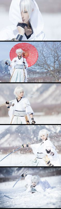 Tsurumaru Kuninaga cosplay by sui (Japan)