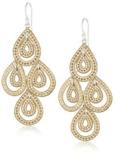 Anna Beck Designs Gili Gold Plated Sterling Silver Teardrop Chandelier Earrings On Style