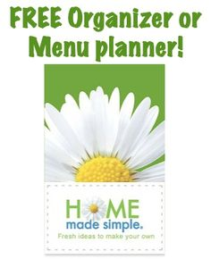 FREE Home Made Simple Organizer or Menu Planner  - Thanks to the Frugalgirls.com