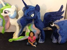 Life Size Luna And Celestia by KarasuNezumi on DeviantArt- I WANT IT. IT MAY NOT FIT IN MY ROOM BUT ITS BEAUTIFUL.