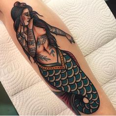 thousand 54 comments Traditional Tattoo (Traditional Artist) M . - thousand 54 comments Traditional Tattoo (Traditional Artist) Mermaid tattoo - Piercing Tattoo, Arm Tattoo, Sleeve Tattoos, Piercings, Ankle Tattoo, Traditional Mermaid Tattoos, Traditional Tattoo Ink, Tattoos Mandala, Tattoos Geometric