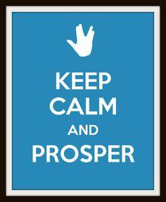 Keep Calm Nursery Art  Star Trek Inspired  Choose by geekabyebaby, $12.00