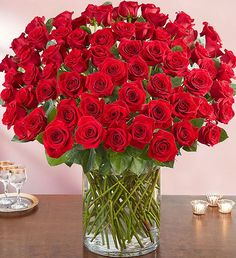 Order 100 Premium Long Stem Red Roses flower arrangements from All Flowered Up Too, your local Lubbock, TX florist. Send 100 Premium Long Stem Red Roses floral arrangement throughout Lubbock and surrounding areas. 100 Red Roses, 800 Flowers, Most Popular Flowers, Beautiful Rose Flowers, Red Rose Love, Rose Vase, Valentines Flowers, Flower Delivery, Floral Arrangements