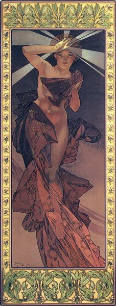Titre de l'image : Alphonse Mucha - The Moon and the Stars: Morning Star